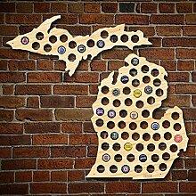 HomeWetBar Michigan Bierdeckel Karte + Oberer