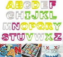 Homewit Kuchen Buchstaben,26 Teilig Fondant