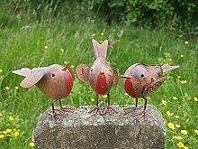 Homezone 3-Teiliges Robin Redbreast Metall Vogel