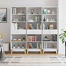 Homfa 189cm 3X Bücherregal Bücherschrank