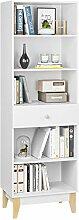 Homfa 189cm Bücherregal Bücherschrank mit