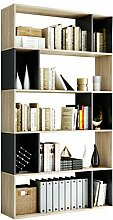 Homfa 190 cm Bücherregal Standregal mit 5 Ebene