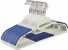 HOMFA 20er Kleiderbügel mit Anti-Rutsch Gummierung für Kleidung Anzug Jacke Krawatte dünn Blau (Blau)