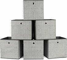 Homfa 6 Stück Aufbewahrungsbox Faltbox Regalbox