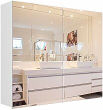 Homfa Badezimmer-Spiegelschrank, 27,6 x 23,6 Zoll,