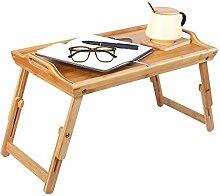 Homfa Bambus Esstisch Tragbarer Laptop-Ständer