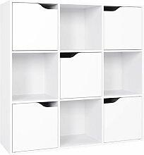 Homfa Bücherregal Raumteiler Raumtrenner