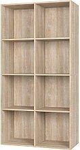 Homfa Bücherregal Regal mit 8 Fächern Raumteiler