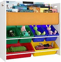 Homfa Kinderregal Bücherregal Spielzeugregal