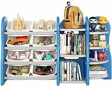 Homfa Kinderregal Spielzeugregal Bücherregal
