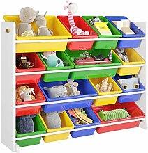 Homfa Kinderregal Spielzeugregal Kinderzimmerregal