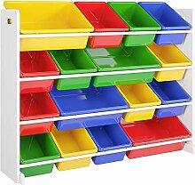 Homfa Spielzeug-Speicher-Einheit Kinder Toy Box