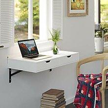 Homfa Wandtisch mit 2 Schubladen