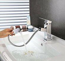 HOMFA Waschtischarmatur Wasserhahn Ausziehbare Bad