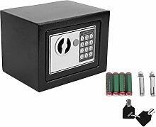Homgrace Elektronischer Safe Tresor 23x17x17cm mit 4 Batterien - Schwarz