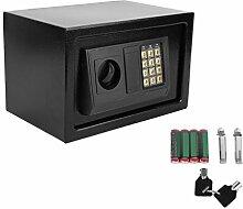 Homgrace Elektronischer Safe Tresor 31x20x20cm mit 4 Batterien - Schwarz