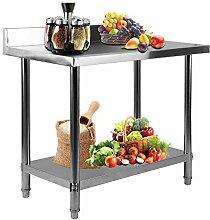 Homgrace Küchentisch Edelstahl Tisch Küche