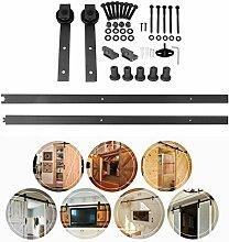 Homgrace Schiebetürbeschlag 6,6FT / 2M Schiebetür Hängeschiene Schiebetürsystem Tür-Hardware-Kit für Schiebetüren Innentüren