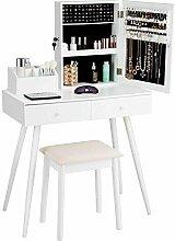 Homgx Kosmetik-Set mit abschließbarem Schrank und