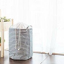 Homi Wäschekorb, perfekt fürs Studentenwohnheim, Kinderzimmer, Badezimmer oder Kleiderschrank blau