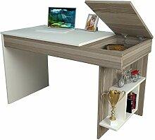 Homidea Hidden Schreibtisch - Weiß/Avola -
