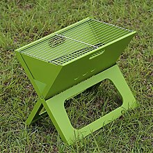 HomJo Barbecue Grill Outdoor Barbecue Grill Portable Folding Camping Patio Garten Holzkohle Ofen Haushalt BBQ Grills Burn Ofen Herd , 3