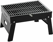HomJo Barbecue Grill Portable Falten Beine ein Barbecue Grill Camping Outdoor Edelstahl Sockel Holzkohle Barbecue BBQ Grill Utensil 3-5 Personen