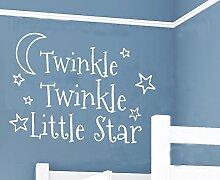 hommay PVC Wandtattoo Aufkleber Twinkle XINGYUE Kinder Schlafzimmer Nachttisch europäischen Home Dekoration Tapete Wandbild Art Aufkleber 78,7cm x55.9cm