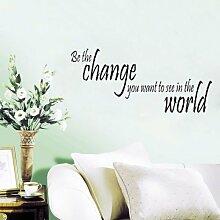 hommay Wandtattoo Change You Want Home Dekoration Tapete Wandbild Art Aufkleber 56cm x 25,5cm