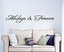 hommay Wandtattoo Forever Home Dekoration machen Tapete Wandbild Art Aufkleber 56cm x 7cm