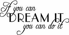 hommay Wandtattoo Inspirierende Dream Dare To Dream Home Dekoration Tapete Wandbild Art Aufkleber 76,2cm x33cm