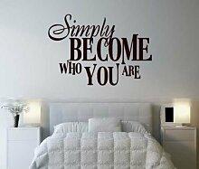 hommay Wandtattoo werden Gute Satz einfach zu Wohnzimmer Schlafzimmer Sofa Home Dekoration Tapete Wandbild Art Aufkleber 55,9cm x38.1cm