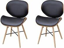 Hommoo - 2 Stück Esszimmer-Stuhl mit