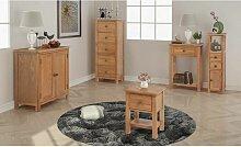 Hommoo Fünfteiliges Wohnzimmermöbel-Set Eiche