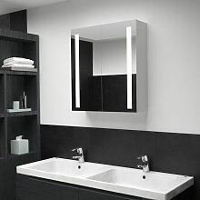 Hommoo LED-Bad-Spiegelschrank 62 x 14 x 60 cm