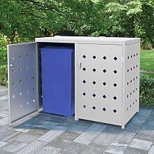 Hommoo Mülltonnenbox für 2 Tonnen 240 L