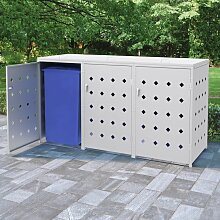 Hommoo Mülltonnenbox für 3 Tonnen 240 L