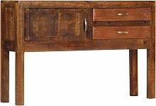 Hommoo Sideboard 118x30x75 cm Massivholz Mango