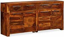 Hommoo Sideboard Sheesham-Holz Massiv 160x35x75 cm