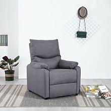 Hommoo TV-Relaxsessel Hellgrau Stoff VD14221