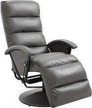 Hommoo TV-Sessel Grau Kunstleder VD14099