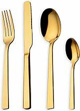 HOMQUEN 16-Teiliges Gold-Besteck-Set, 18/10