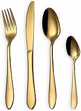 HOMQUEN Besteck Set, Gold Besteck Set, Edelstahl