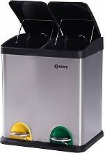 Homra Mülltrennsysteme - 2 Fach Mülleimer mit