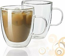 Homvare Kaffeebecher, doppelwandiges