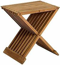 Homy Beistelltisch Hocker Holz Massiv rechteckig