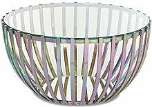 Homy Couchtisch Rund 80cm Multicolor Metall