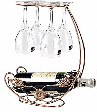Homye Weinhalter, Vintage-Weinregal mit Stielglas,