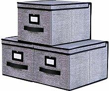 homyfort 3 Stück faltbox mit Deckel Faltbare