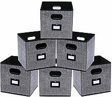 homyfort 6 Stück Faltbare aufbewahrungsbox